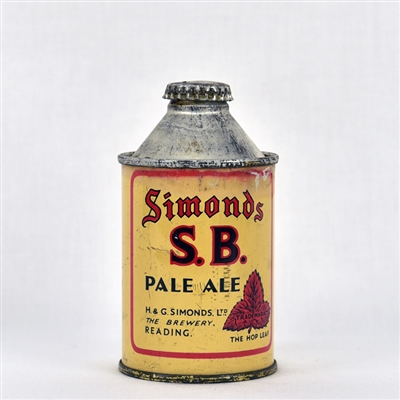 Simonds S.B. Pale Ale Early British Cone Top Can