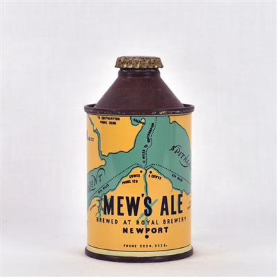 Mew's Ale Early British Cone Top Beer Can