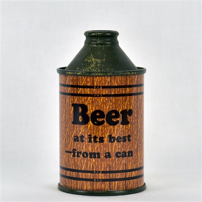 """Beer"" Early British Salesman Sample Cone Top Can"