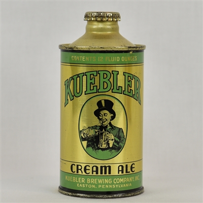 Kuebler Cream Ale J-Spout Cone Top Beer Can