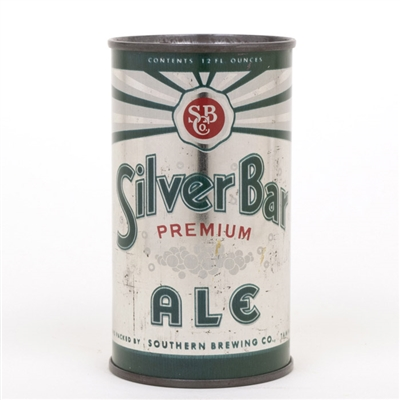 Silver Bar Ale Flat Top Beer Can