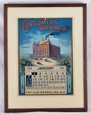 Consumers Brewing 1912 Calendar Lithograph