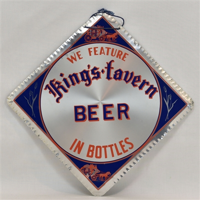 King's Tavern Beer Aluminum Leyse Sign