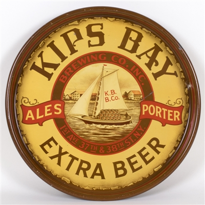 Kips Bay Brewing Sailboat Beer Tray