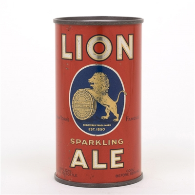 Lion Sparkling Ale Instructional Flat Top Can