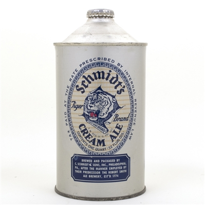 Schmidts Tiger Brand Cream Ale Quart Cone Top