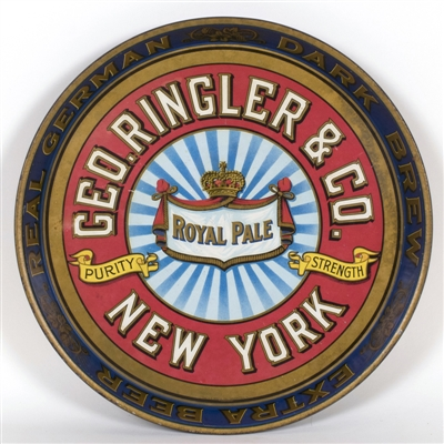 Geo. Ringler Royal Pale New York Beer Tray