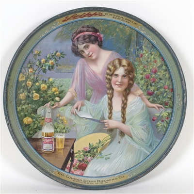 Seipps Beer Pretty Lady Tin Litho Tray