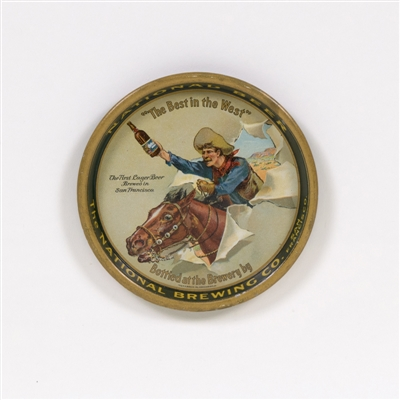 National Beer Cowboy on Horse Tip Tray