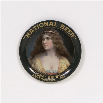 National Beer San Francisco Vitorian Lady Tip Tray
