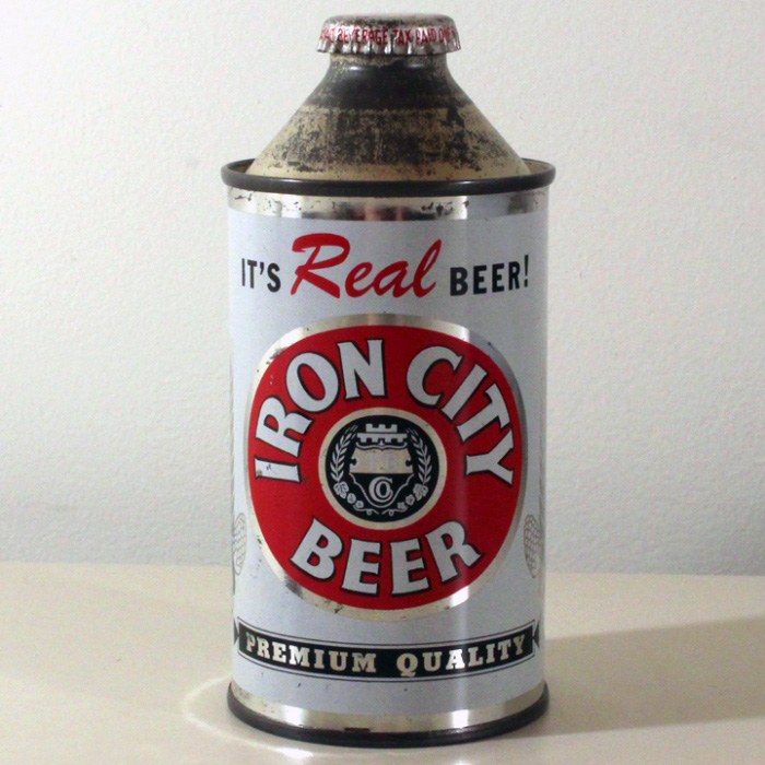 Iron City Real Beer Cone Top 170-04