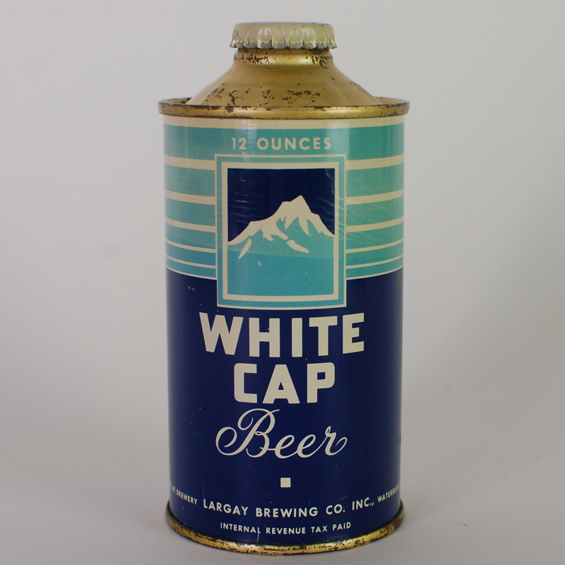 White Cap Beer Cone Top 188-31