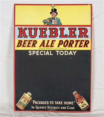 Kuebler J-Spout Cone Top & Steinie Bottle Sign