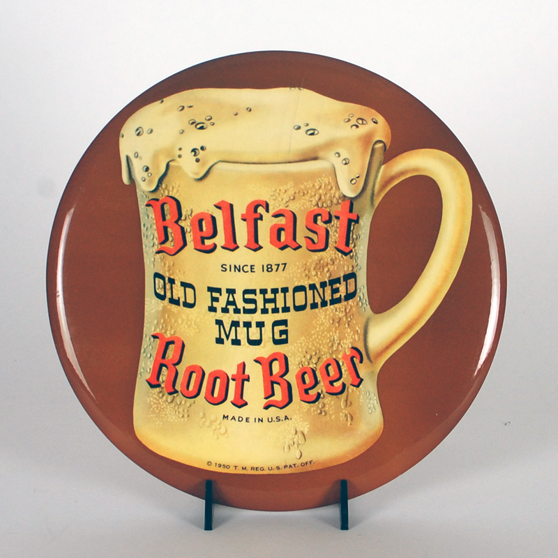 Belfast Old Fashioned Mug Root Beer TOC Button Sign