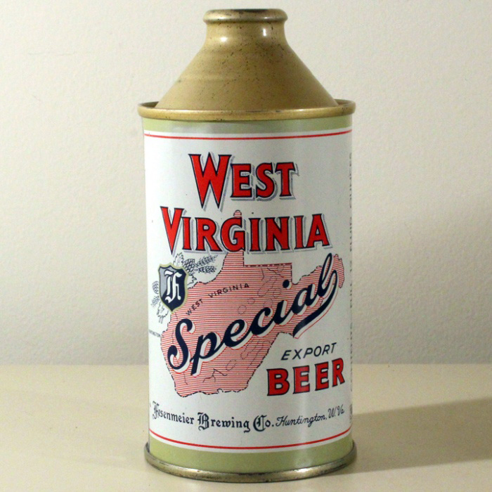 West Virginia Special Export Beer Cone Top