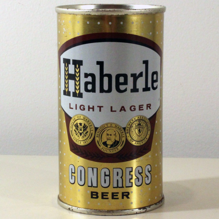 Haberle Light Lager Congress Beer Flat Top
