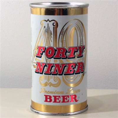 Forty Niner Lager Beer Flat Top
