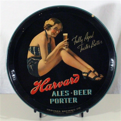 Harvard Ale Beer Porter Pin-Up Girl Tray