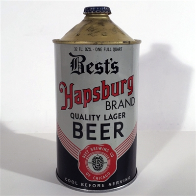 Bests Hapsburg Brand Quality Lager Beer Quart Cone