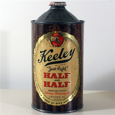 Keeley Half & Half Quart Cone Top