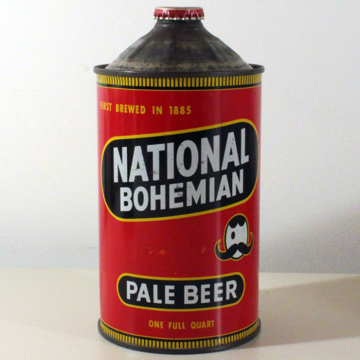 National Bohemian Pale Beer Quart Cone Top Can