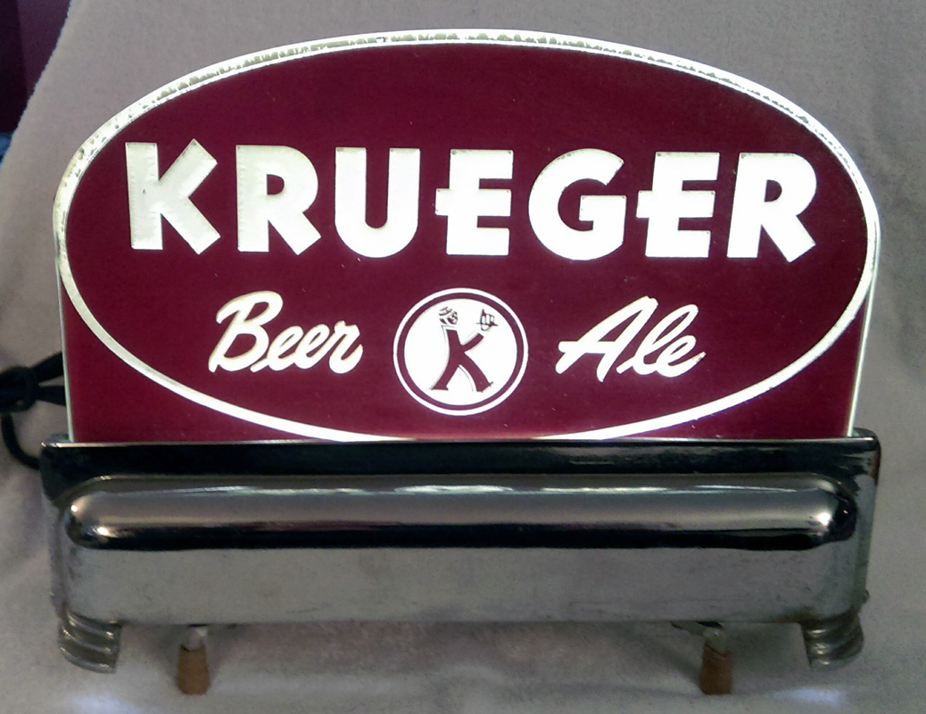 Krueger Beer Ale Cash Register Lighted Sign