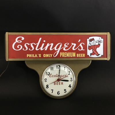 Esslinger Teardrop Little Man Beer Lamp Clock