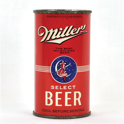 Miller Select Beer Opening Instruction Flat Top