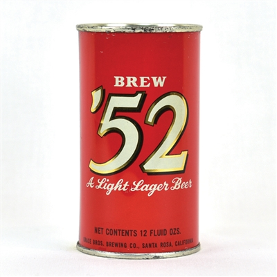 Brew '52 Flat Top Beer Can