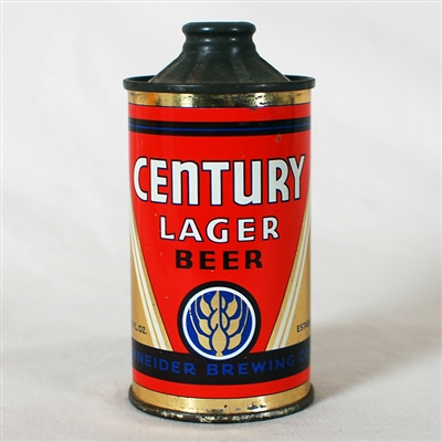 Century Lager Flat Bottom Inverted Rib Cone 157-1