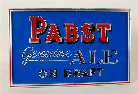 Pabst Genuine Ale On Draft ROG Sign