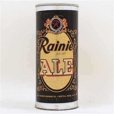 Rainier Old Stock Ale Silver Bands Test Can