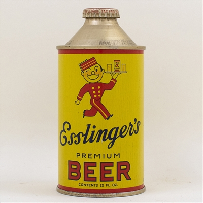 Esslingers Beer Flat Bottom Cone Top Can