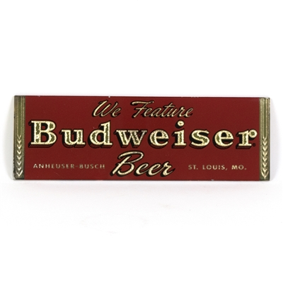 Budweiser Beer Small Reverse Painted Sign