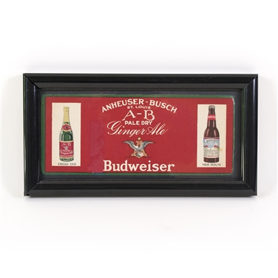 Anheuser-Busch Sign Featuring Ginger Ale and Budweiser