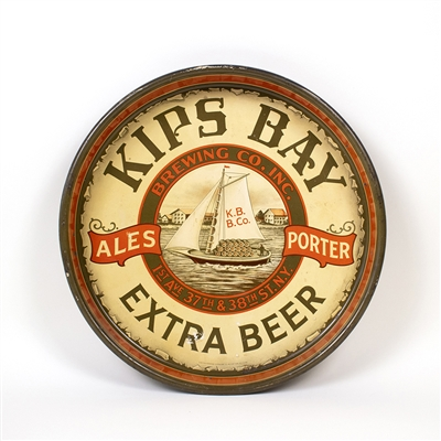 Kips Bay Ales Porter Sailboat Beer Tray