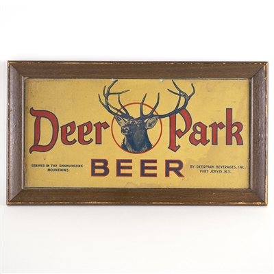 Deer Park Beer Framed Cardboard Sign