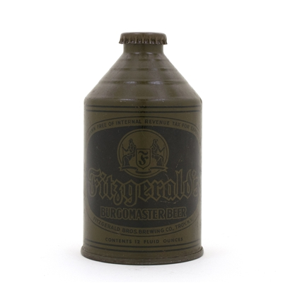 Fitzgerald's Burgomaster Beer Olive Drab Crowntainer