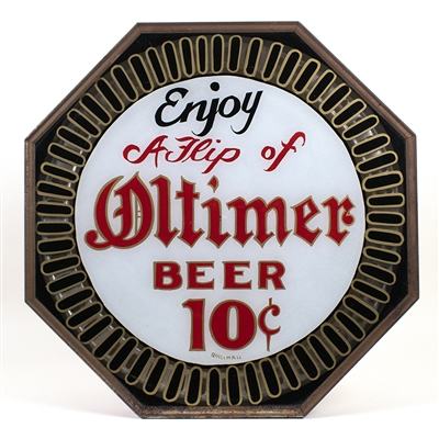 Oltimer Beer Spinner Motion Lighted Sign