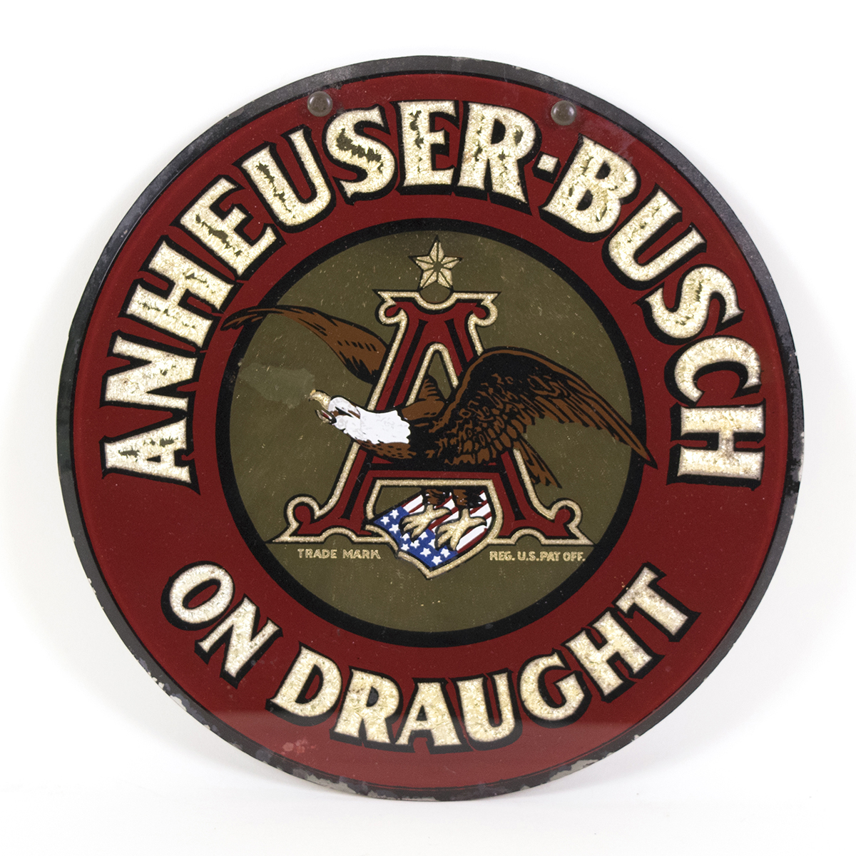 Lot Detail Anheuser Busch On Draught Pre Proh Rpg Sign