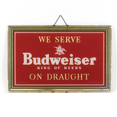 Budweiser Beer On Draught RPG Sign