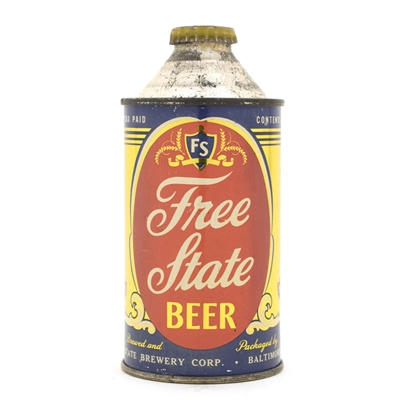 Free State Beer High Profile Cone Top Beer Can