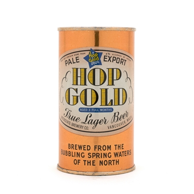 Hop Gold Beer Opening Instruction BLUE BAR Can