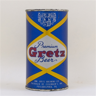 Gretz Premium Beer Flat Top Can