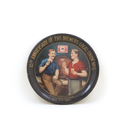 15th Anniversary Brewers Local Union No. 5 Tip Tray
