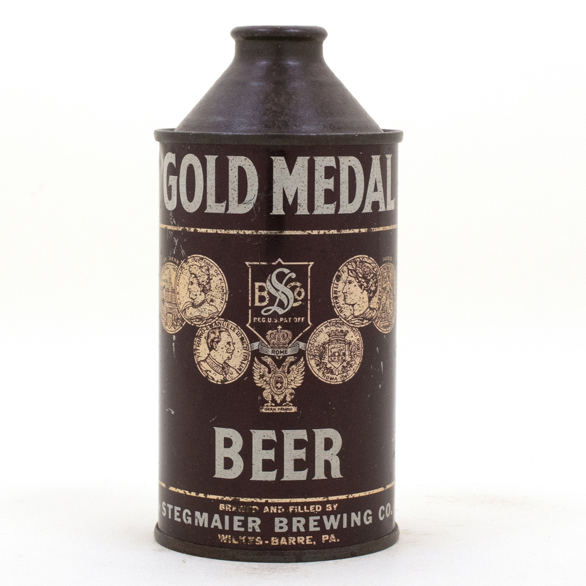 Gold Medal Cone Top Beer Can