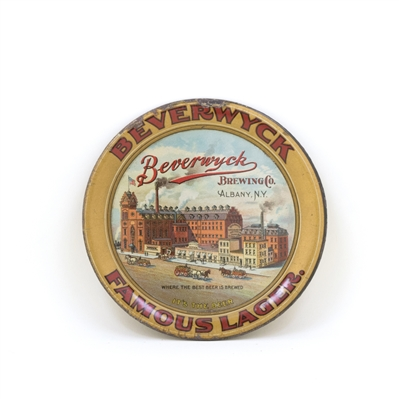 Beverwyck Famous Lager Factory Scene Tip Tray