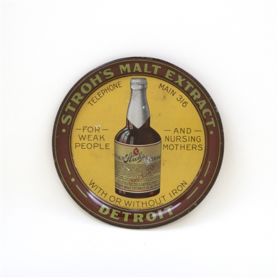 Strohs Malt Extract Bottle Tip Tray