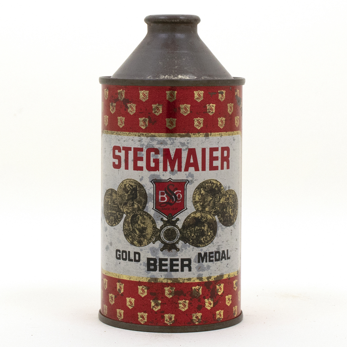 Stegmaier Gold Medal Cone top Beer Can