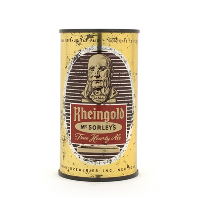 Rheingold McSorley's Ale Flat Top Beer Can